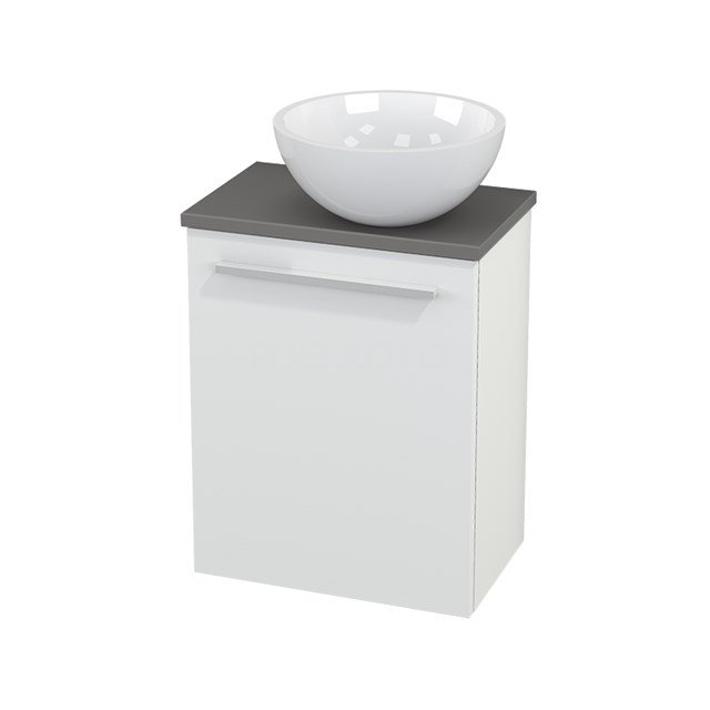 Toiletmeubel met Waskom Mineraalmarmer Glanzend Modulo+ Pico Mat Wit 41cm BMC000557