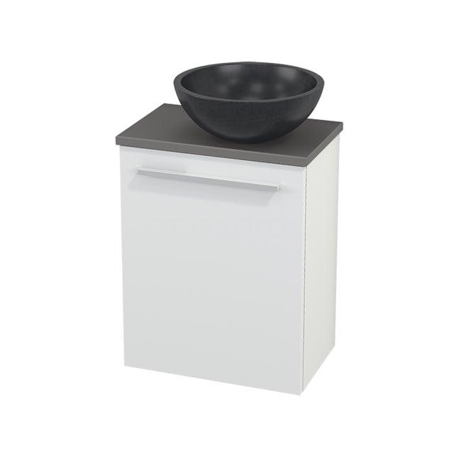 Toiletmeubel met Waskom Natuursteen Modulo+ Pico Mat Wit 41cm BMC000559