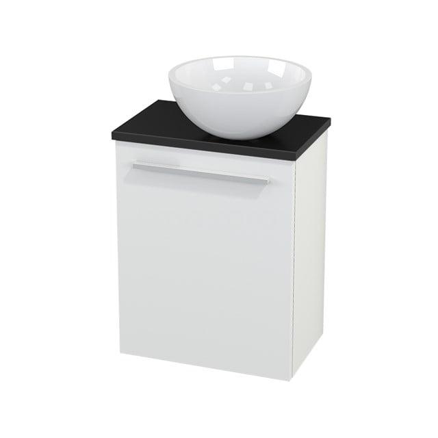Toiletmeubel met Waskom Mineraalmarmer Glanzend Modulo+ Pico Mat Wit 41cm BMC000564