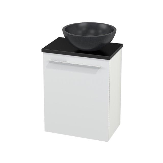 Toiletmeubel met Waskom Natuursteen Modulo+ Pico Mat Wit 41cm BMC000566