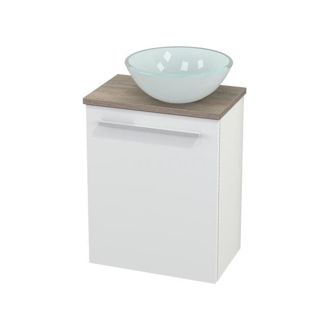 Toiletmeubel met Waskom Glas Modulo+ Pico Mat Wit 41cm BMC000569