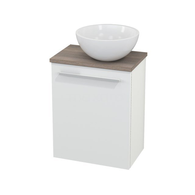 Toiletmeubel met Waskom Mineraalmarmer Glanzend Modulo+ Pico Mat Wit 41cm BMC000571
