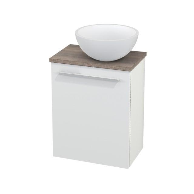 Toiletmeubel met Waskom Solid Surface Mat Modulo+ Pico Mat Wit 41cm BMC000572