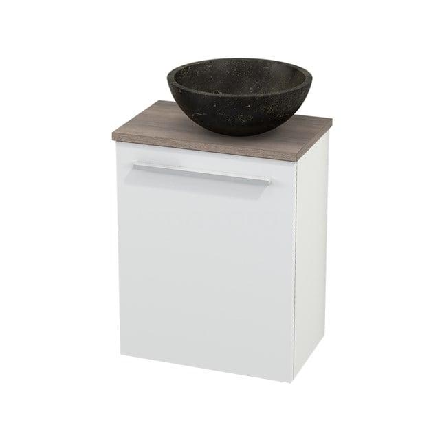 Toiletmeubel met Waskom Natuursteen Modulo+ Pico Mat Wit 41cm BMC000573