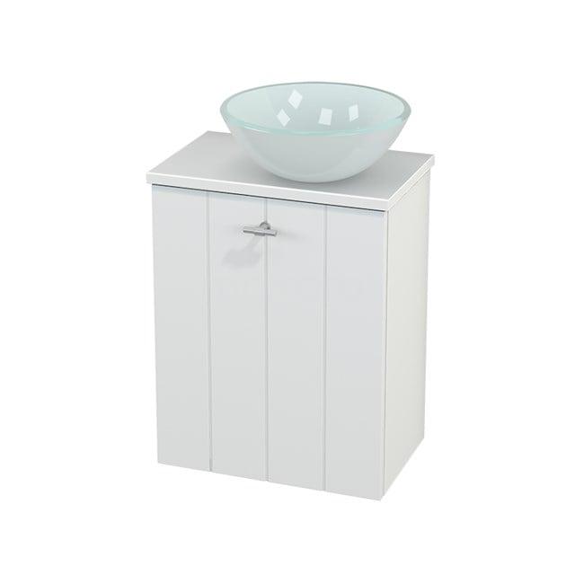 Toiletmeubel met Waskom Glas Modulo+ Pico Mat Wit 41cm BMC000576