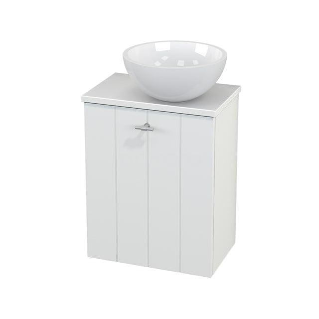 Toiletmeubel met Waskom Mineraalmarmer Glanzend Modulo+ Pico Mat Wit 41cm BMC000578