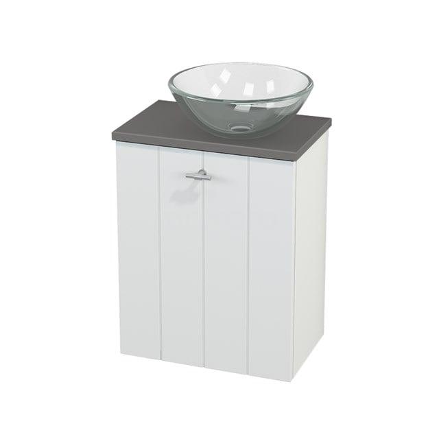 Toiletmeubel met Waskom Glas Modulo+ Pico Mat Wit 41cm BMC000582