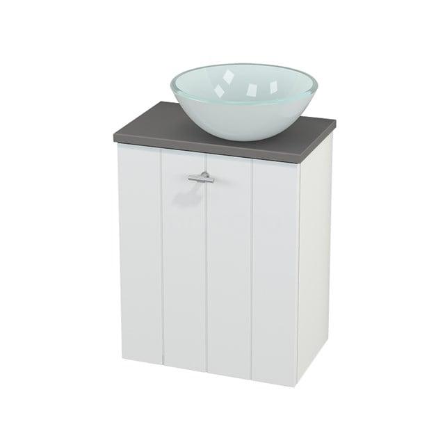 Toiletmeubel met Waskom Glas Modulo+ Pico Mat Wit 41cm BMC000583