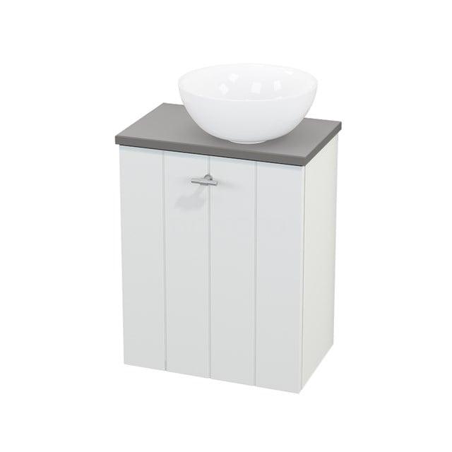 Toiletmeubel met Waskom Keramiek Modulo+ Pico Mat Wit 41cm BMC000584