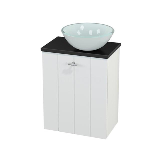 Toiletmeubel met Waskom Glas Modulo+ Pico Mat Wit 41cm BMC000590