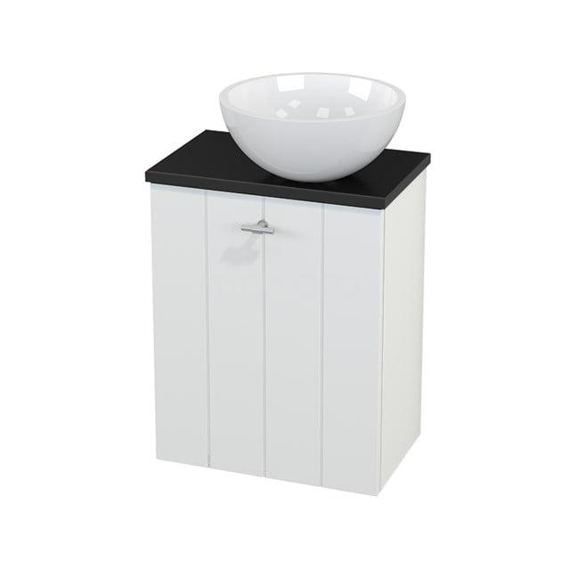 Toiletmeubel met Waskom Mineraalmarmer Glanzend Modulo+ Pico Mat Wit 41cm BMC000592