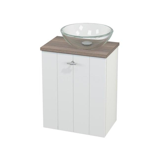 Toiletmeubel met Waskom Glas Modulo+ Pico Mat Wit 41cm BMC000596