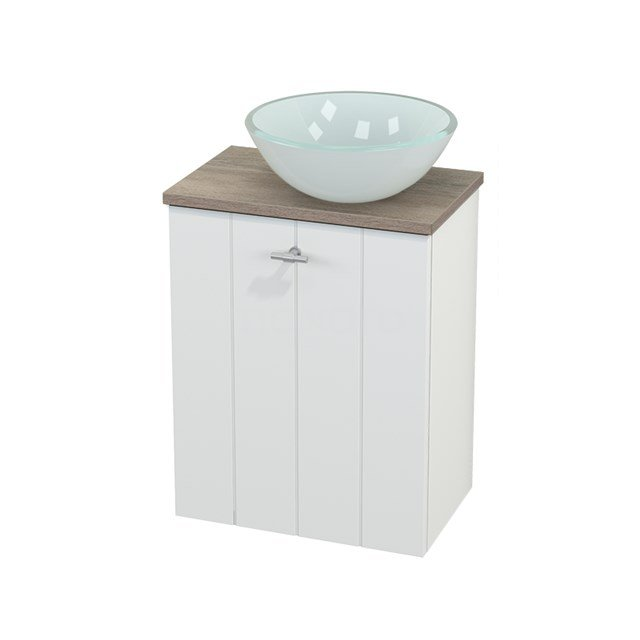 Toiletmeubel met Waskom Glas Modulo+ Pico Mat Wit 41cm BMC000597