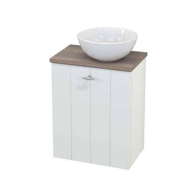 Toiletmeubel met Waskom Keramiek Modulo+ Pico Mat Wit 41cm BMC000598