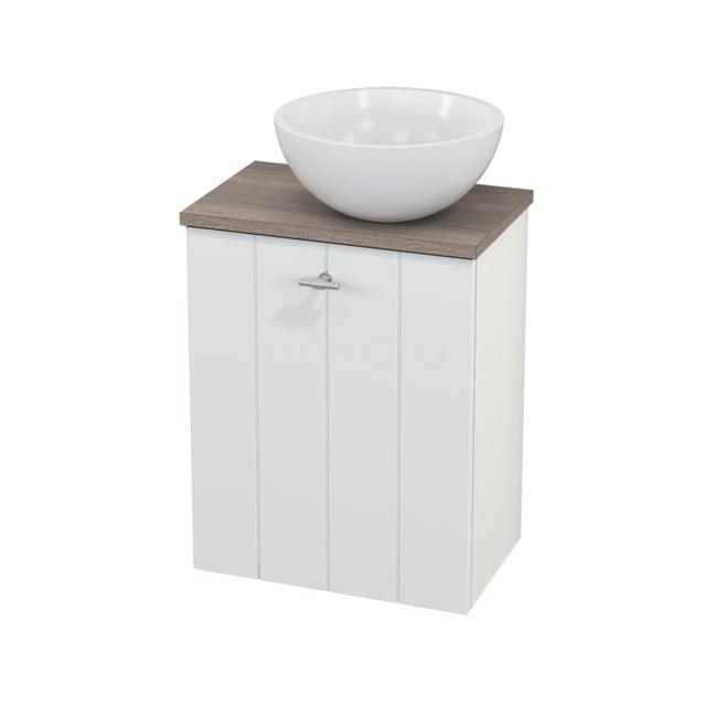 Toiletmeubel met Waskom Mineraalmarmer Glanzend Modulo+ Pico Mat Wit 41cm BMC000599