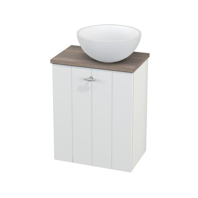 Toiletmeubel met Waskom Solid Surface Mat Modulo+ Pico Mat Wit 41cm BMC000600
