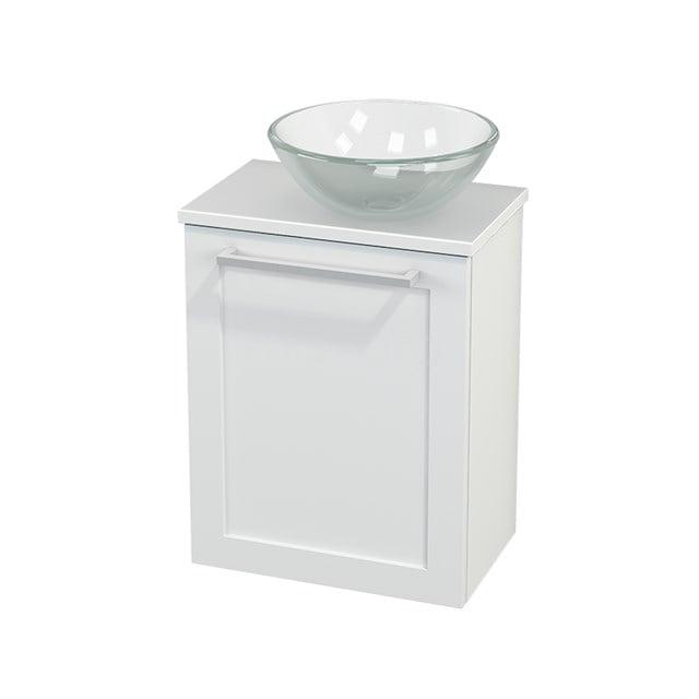Toiletmeubel met Waskom Glas Modulo+ Pico Mat Wit 41cm BMC000603