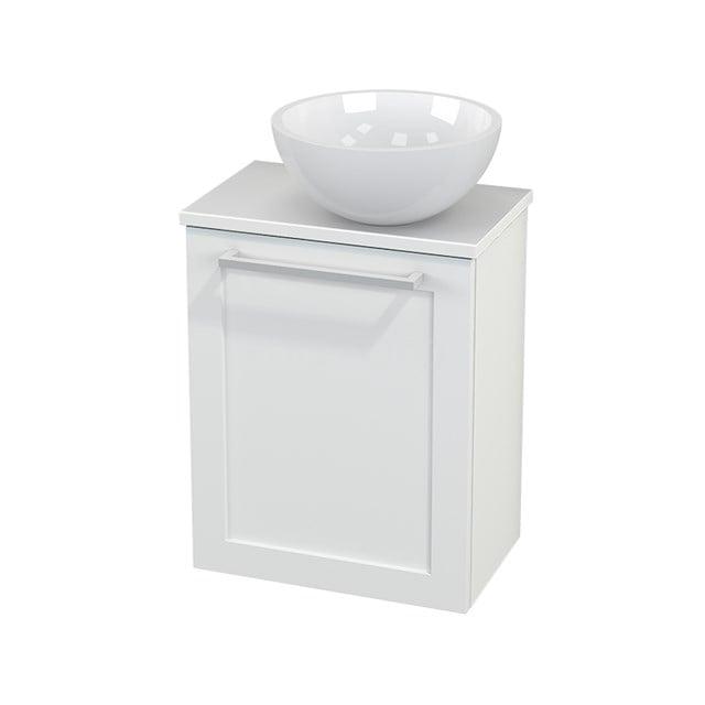 Toiletmeubel met Waskom Mineraalmarmer Glanzend Modulo+ Pico Mat Wit 41cm BMC000606