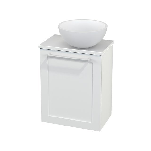 Toiletmeubel met Waskom Solid Surface Mat Modulo+ Pico Mat Wit 41cm BMC000607