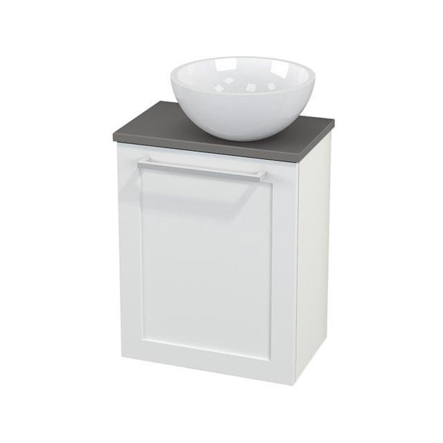 Toiletmeubel met Waskom Mineraalmarmer Glanzend Modulo+ Pico Mat Wit 41cm BMC000613