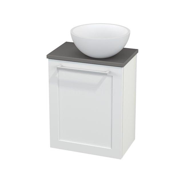 Toiletmeubel met Waskom Solid Surface Mat Modulo+ Pico Mat Wit 41cm BMC000614