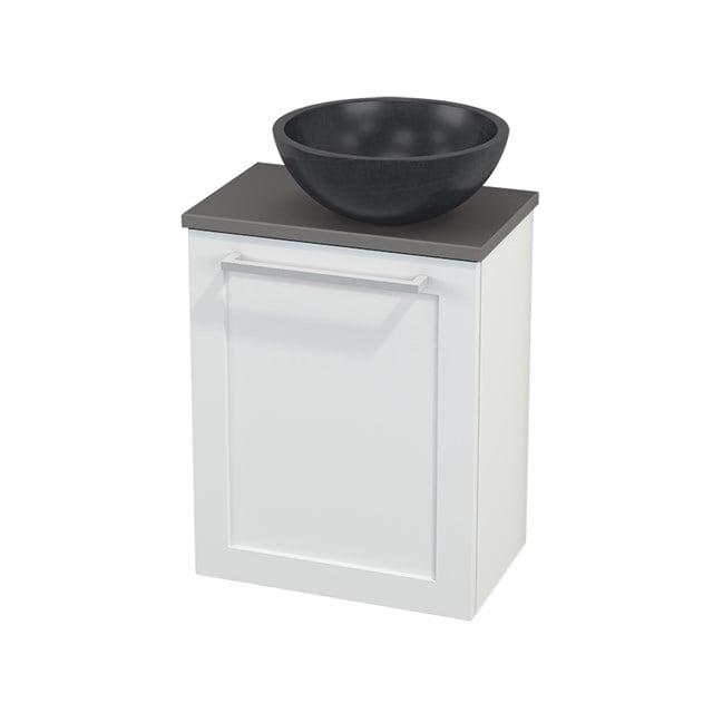 Toiletmeubel met Waskom Natuursteen Modulo+ Pico Mat Wit 41cm BMC000615