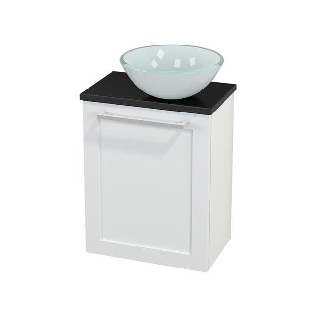 Toiletmeubel met Waskom Glas Modulo+ Pico Mat Wit 41cm BMC000618