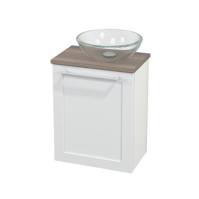 Toiletmeubel met Waskom Glas Modulo+ Pico Mat Wit 41cm BMC000624