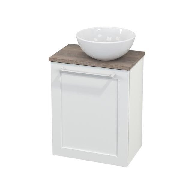 Toiletmeubel met Waskom Keramiek Modulo+ Pico Mat Wit 41cm BMC000626