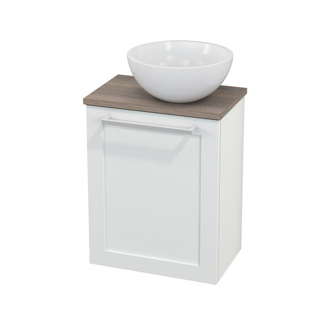 Toiletmeubel met Waskom Mineraalmarmer Glanzend Modulo+ Pico Mat Wit 41cm BMC000627