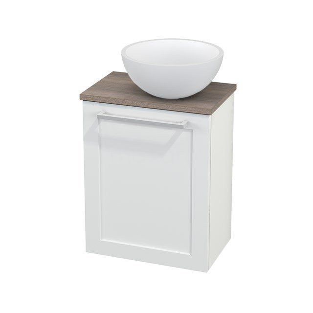 Toiletmeubel met Waskom Solid Surface Mat Modulo+ Pico Mat Wit 41cm BMC000628