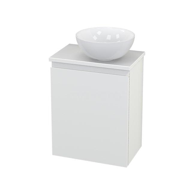 Toiletmeubel met Waskom Keramiek Modulo+ Pico Mat Wit 41cm BMC000633