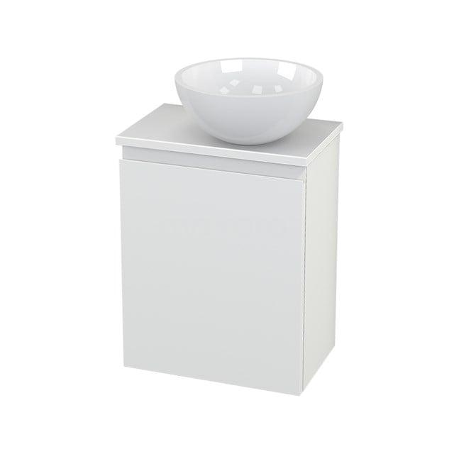 Toiletmeubel met Waskom Mineraalmarmer Glanzend Modulo+ Pico Mat Wit 41cm BMC000634