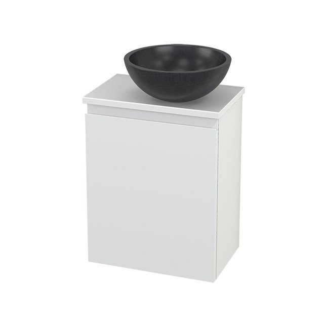 Toiletmeubel met Waskom Natuursteen Modulo+ Pico Mat Wit 41cm BMC000636