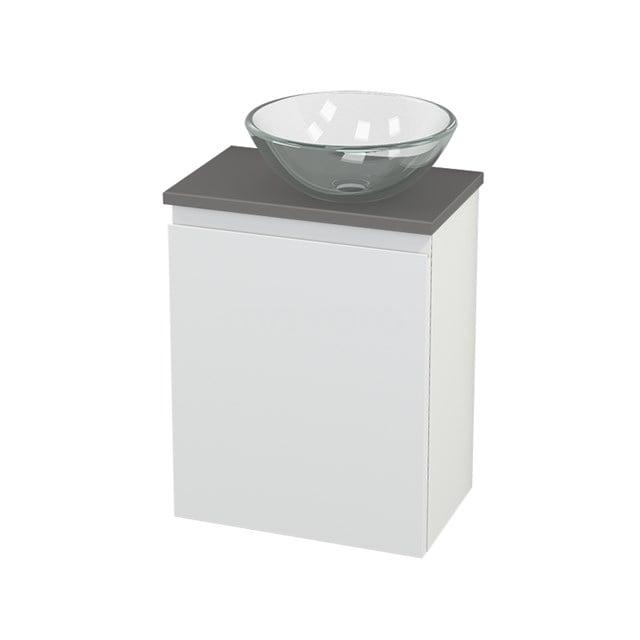 Toiletmeubel met Waskom Glas Modulo+ Pico Mat Wit 41cm BMC000638