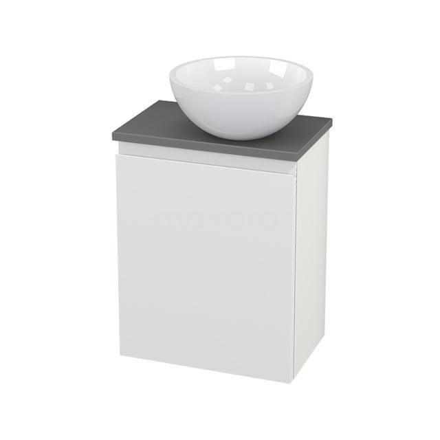 Toiletmeubel met Waskom Mineraalmarmer Glanzend Modulo+ Pico Mat Wit 41cm BMC000641
