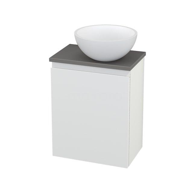 Toiletmeubel met Waskom Solid Surface Mat Modulo+ Pico Mat Wit 41cm BMC000642