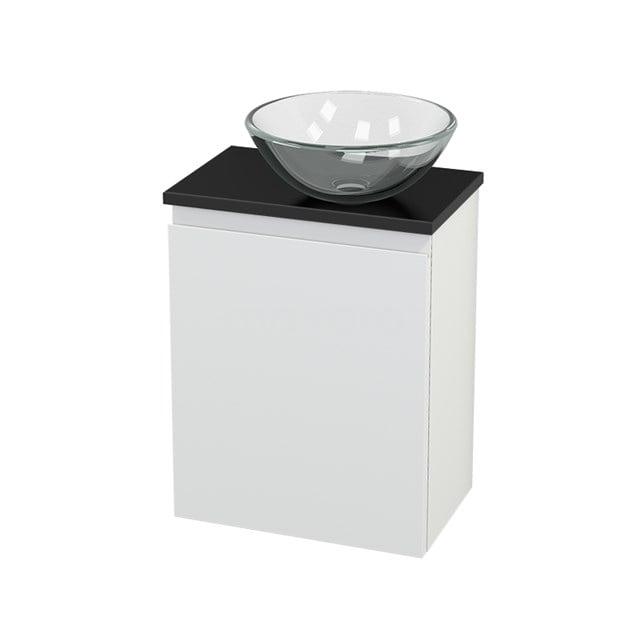 Toiletmeubel met Waskom Glas Modulo+ Pico Mat Wit 41cm BMC000645