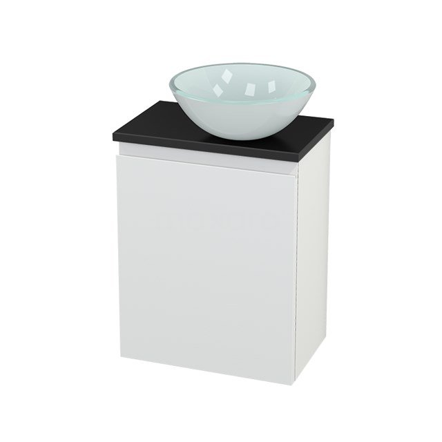 Toiletmeubel met Waskom Glas Modulo+ Pico Mat Wit 41cm BMC000646