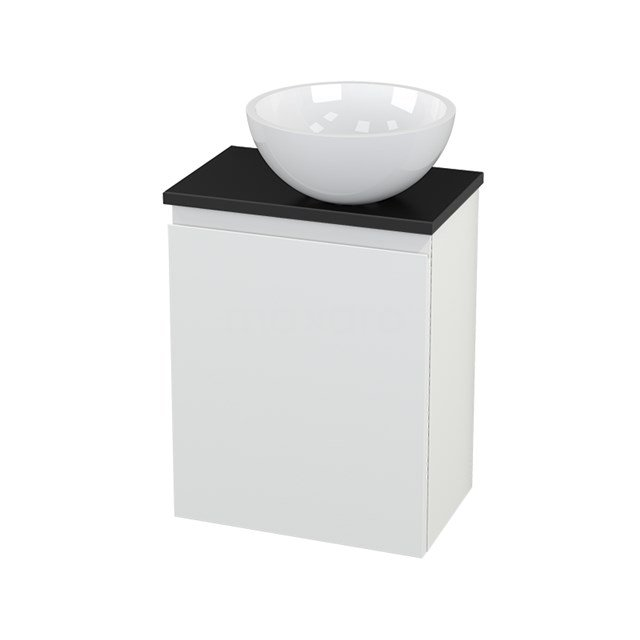 Toiletmeubel met Waskom Mineraalmarmer Glanzend Modulo+ Pico Mat Wit 41cm BMC000648