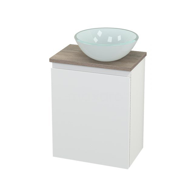 Toiletmeubel met Waskom Glas Modulo+ Pico Mat Wit 41cm BMC000653
