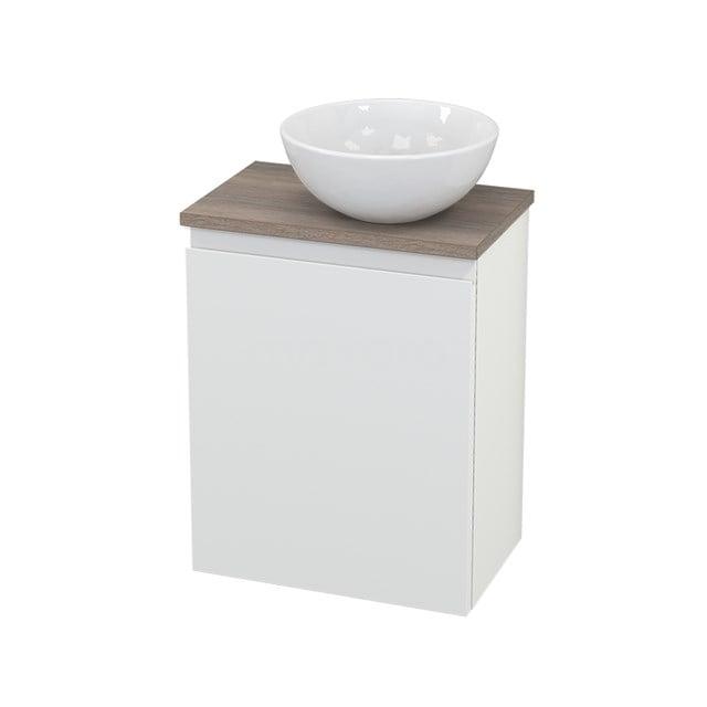 Toiletmeubel met Waskom Keramiek Modulo+ Pico Mat Wit 41cm BMC000654