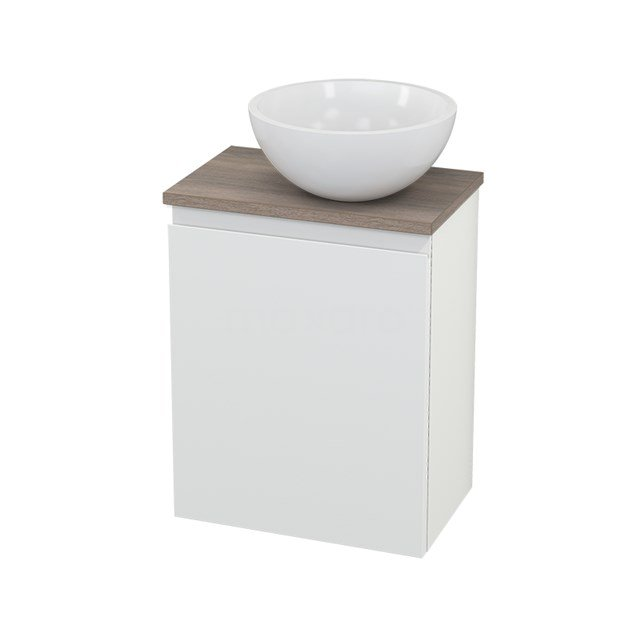 Toiletmeubel met Waskom Mineraalmarmer Glanzend Modulo+ Pico Mat Wit 41cm BMC000655