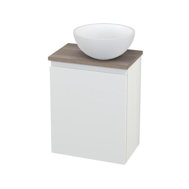 Toiletmeubel met Waskom Solid Surface Mat Modulo+ Pico Mat Wit 41cm BMC000656