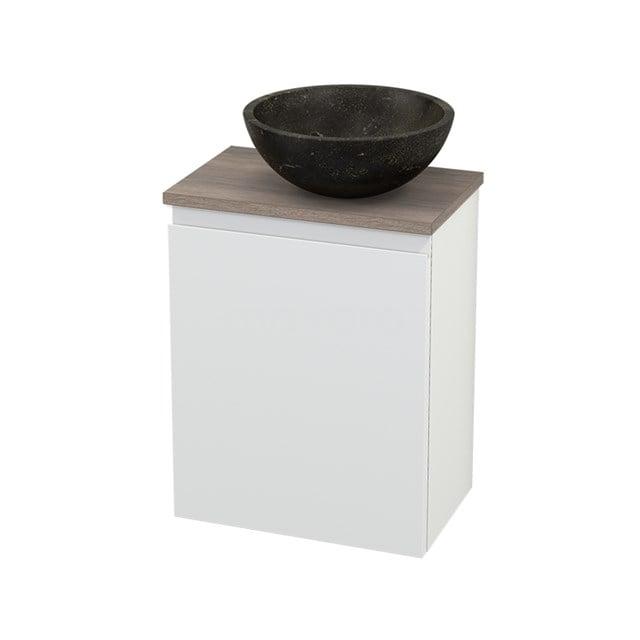 Toiletmeubel met Waskom Natuursteen Modulo+ Pico Mat Wit 41cm BMC000657