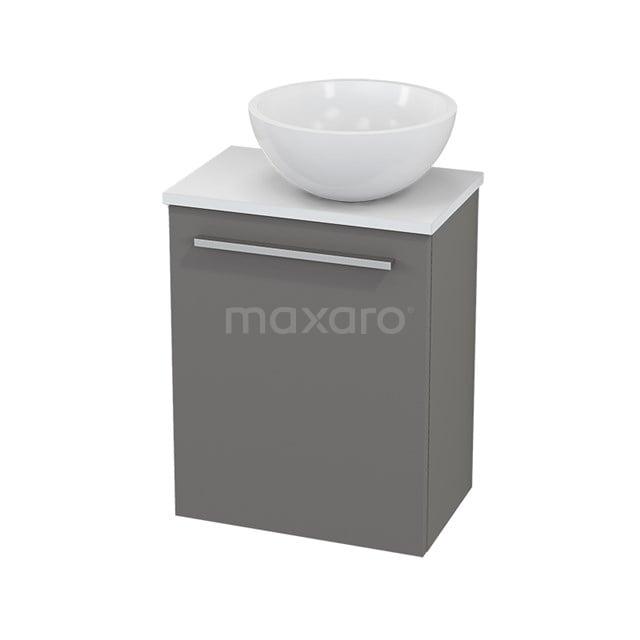 Toiletmeubel met Waskom Mineraalmarmer Glanzend Modulo+ Pico Basalt 41cm BMC000669