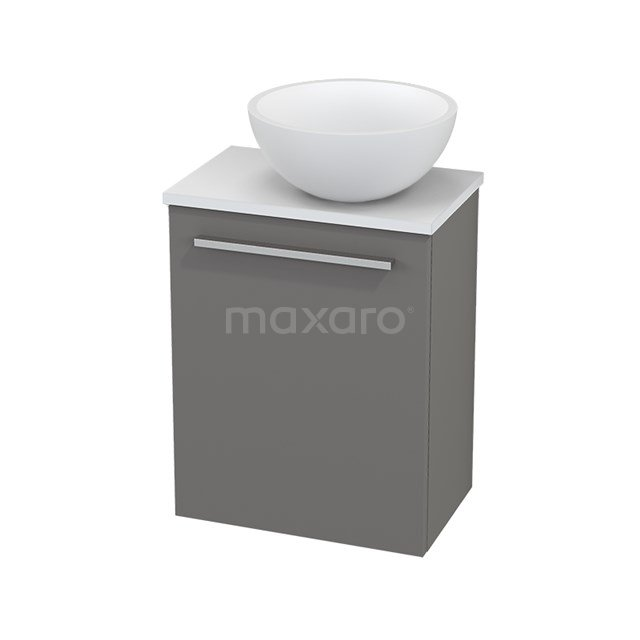 Toiletmeubel met Waskom Solid Surface Mat Modulo+ Pico Basalt 41cm BMC000670