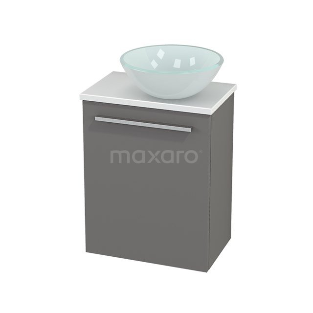 Toiletmeubel met Waskom Glas Modulo+ Pico Basalt 41cm BMC000674