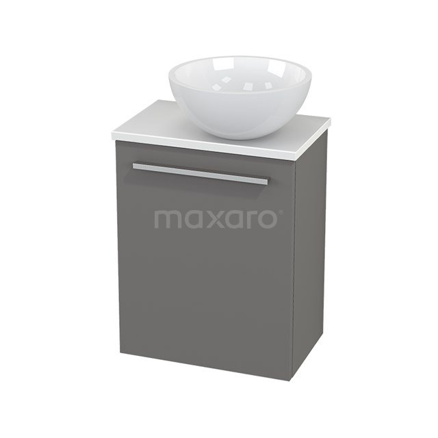 Toiletmeubel met Waskom Mineraalmarmer Glanzend Modulo+ Pico Basalt 41cm BMC000676