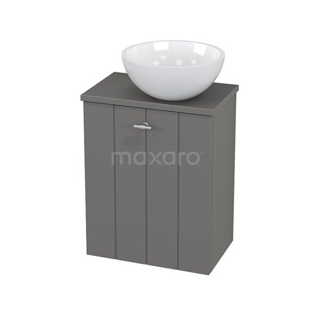Toiletmeubel met Waskom Mineraalmarmer Glanzend Modulo+ Pico Basalt 41cm BMC000683